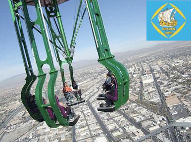 شهربازی بر فراز برجی در لاس وگاس