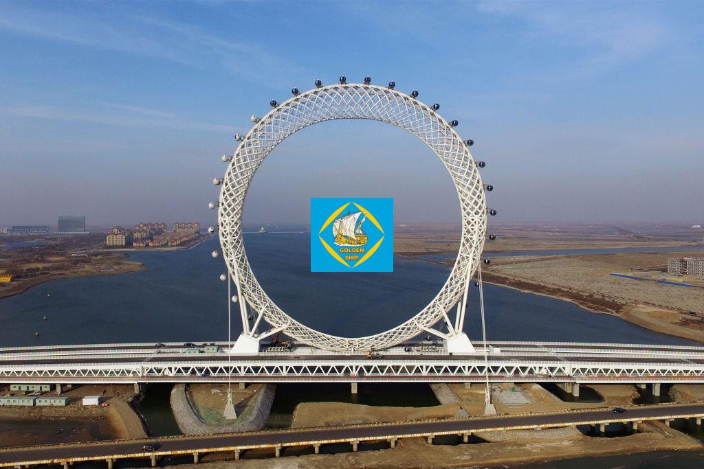 افتتاح بزرگترین چرخ و فلک بدون پرده دنیا در چین